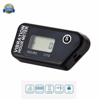 Water Proof LCD Wireless Vibration Hour Meter Counter For Motocross Engine Boat Snowmobile Motorcycle Chainsaw ATV