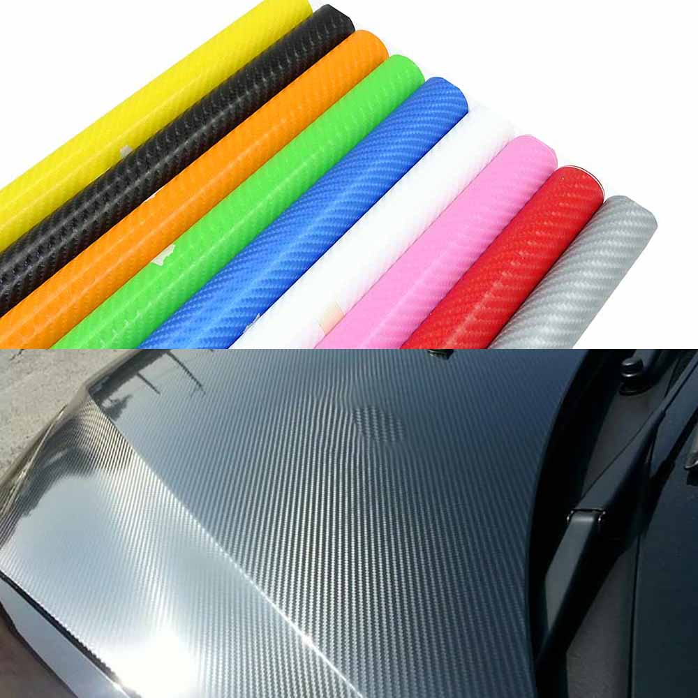2m/5m/10m/20mX152cm 4D Carbon Fiber Vinyl Film Car Stickers Carbon Fibre Wrap Sheet Roll Automobiles Car-styling Accessories 1sheet matte surface 3k 100% carbon fiber plate sheet 2mm thickness