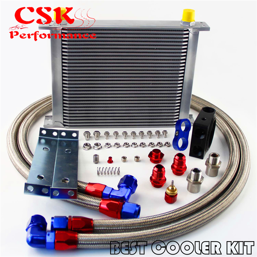 Auto Mobile Engine Oil Cooler : Universal an row jdm engine oil cooler kit