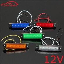 1PCS 12V 6 LED Car Truck Trailer Side Marker Indicators Lights Brake Signal Lamp Red Green Yellow White Blue