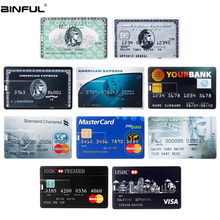 Bank Card Usb Flash Drive 128GB HSBC MasterCard Credit Cards Pen 64GB 32GB 16GB 8GB 4GB USB 2.0 Pendrive Free Shipping