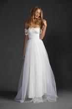 Boho Wedding Dress Lace Appliques Bride Dresses Off The Shoulder Vestido De Novia  2019 Gown Floor Length