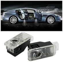 2x светодиодный двери автомобиля Добро пожаловать Свет теневая лампа аксессуары для Audi A4 B6 B8 A1 A3 A6 C5 A5 A8 80 A7 Q3 Q5 Q7 TT R8 проектор огни