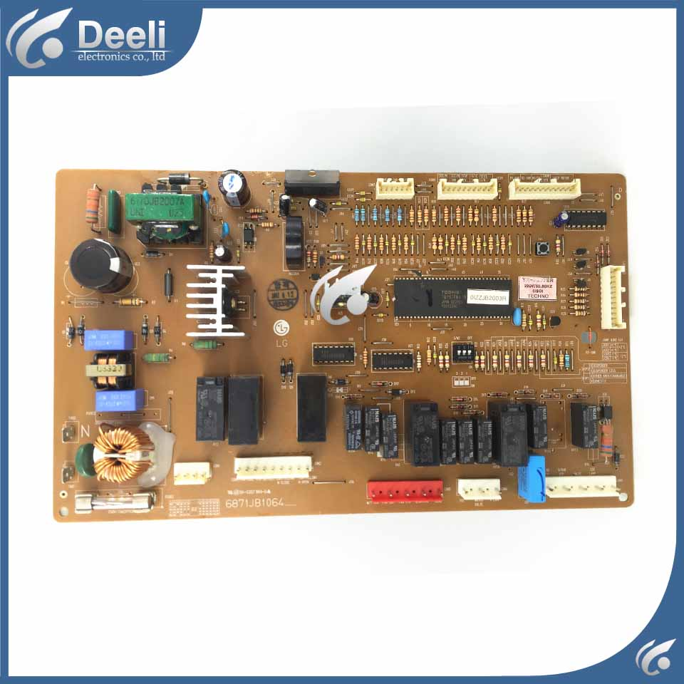 90% new for refrigerator Frequency inverter board driver board GR-P207ER 6871JB1064 6871JB1064M/Z used board l175d l174d driver board 491641300100r ilif 092 signal board used disassemble
