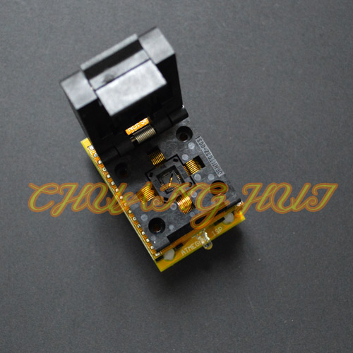 IC QFN32 WSON32 DFN32 MLF32 test socket for AVR ISP test mega8 mega48 mega88 adapter Suitable for CH2015 programmers 0.5mm ic xeltek programmers imported private cx3025 test writers convert adapter