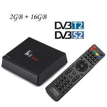 KII PRO T2 S2 2 GB 16 GB Hybird DVB-T2 STB DVB-S2 Android K2 5.1 CAJA de la TV Amlogic S905 BT4.0 WIFI Dual KODI 16.1 IPTV Inteligente CAJA