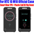 For HTC 10 M10 Case Official TPU + Plastic Call ID Smart ICE View Flip Cover For HTC 10 LIFESTYLE + Screen Protector M102