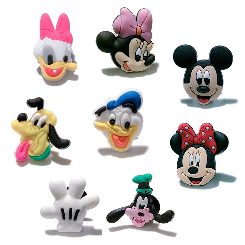 Novelty Single Sale 1pc Mickey PVC Shoe Charms,Shoe Buckles Accessories Fit Bands Bracelets Croc JIBZ,Kids Party X-mas Gifts