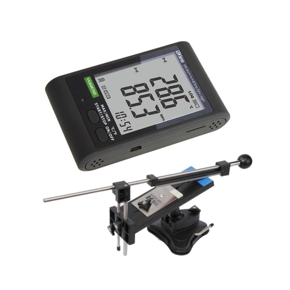 Enregistreur numérique d'humidité de la température compteur thermomètre hygromètre + Kits d'affûteuse de couteau de cuisine à angle fixe 4 pierres à aiguiser