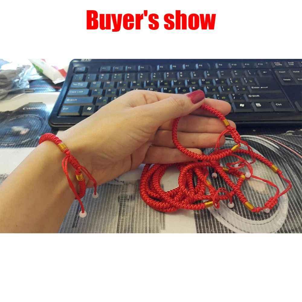 1PC 16cm Classic Red String Bracelet Lucky Chinese Red Ropes String Wrap Bracelet Good Luck New Hand Made Bracelets Men Women