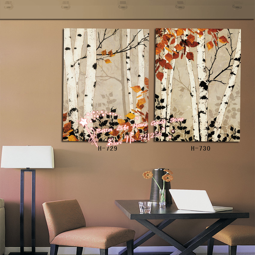 Modern Wall Art Home Decoration Printed Oil Painting Pictures 2 Rhaliexpress: Paintings For Living Room With Birch Trees At Home Improvement Advice