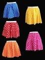 Envío gratis Muchachas de Las Señoras Mujeres de Estilo Polka Dot RockNRoll Completa Falda Circular