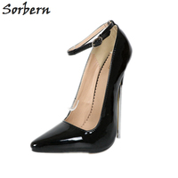 Sorbern 18Cm Extreme High Heels Women Pumps Plus Size Metal Heels Ladies Party Shoes Pump Unisex Gay Dance Crossdressed Heels