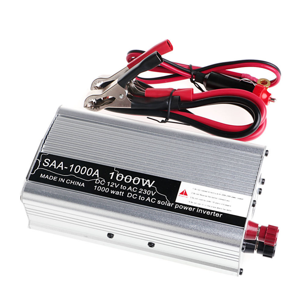 New 2000W Peak DC12V to AC 230V Solar Power Inverter Converter USB Output Stable maylar 22 60vdc 300w dc to ac solar grid tie power inverter output 90 260vac 50hz 60hz