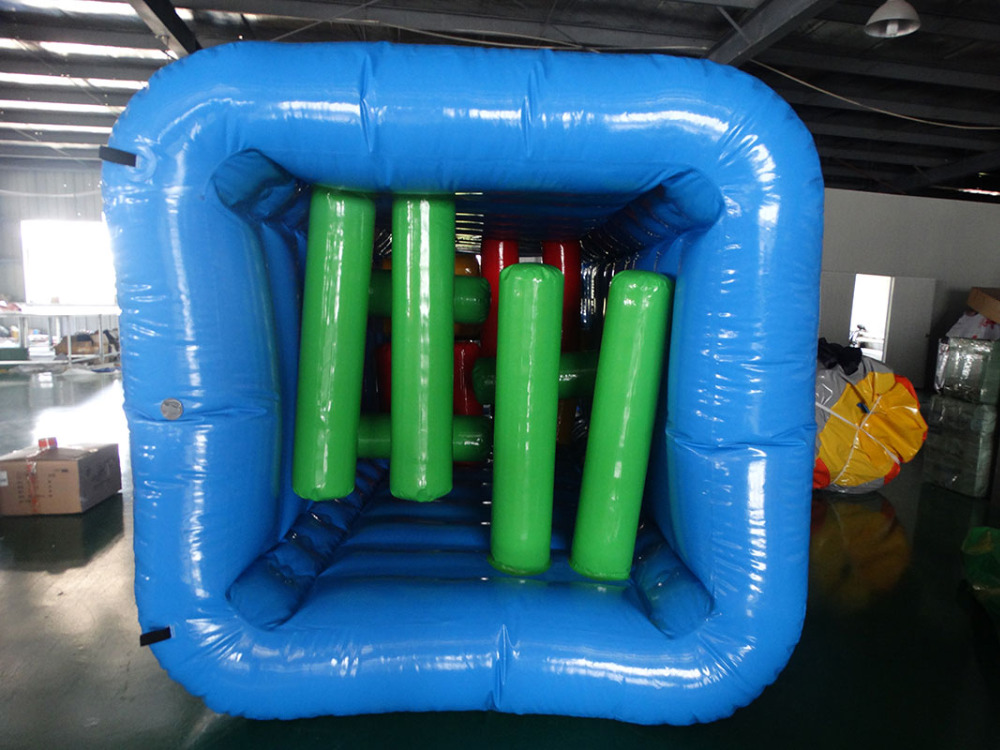 inflatable obstacle game course in inflatable bouncer jumpinginflatable obstacle game course in inflatable bouncer jumping