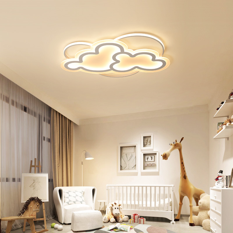 Led Ceiling Lamp with Remote Control Modern White Ceiling Light Round Living Room Kitchen Light Fixtures Indoor Lighting Ceiling in Ceiling Lights from Lights Lighting