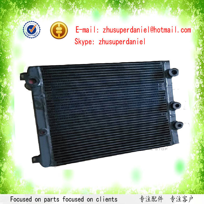 WJIER screw air compressor oil cooler heat exchanger aluminum water radiator 1310031070 high quality water cooled heat exchanger black 22091904 for screw air compressor spare parts