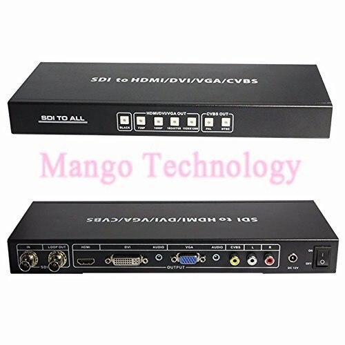 SDI to Composite,CVBS/RCA/VGA,DVI,HDMI Converter SDI to all Scaler Converter SD/HD/3G-SDI input HDMI/DVI/VGA/CVBS and SDI output