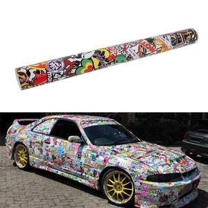 Image 3 - Panda Cartoon Graffiti Car Sticker Bomb Wrap Sheet Decal Sticker New