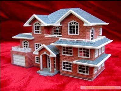 3D Plastic House Kit Palace Construction model villa-in