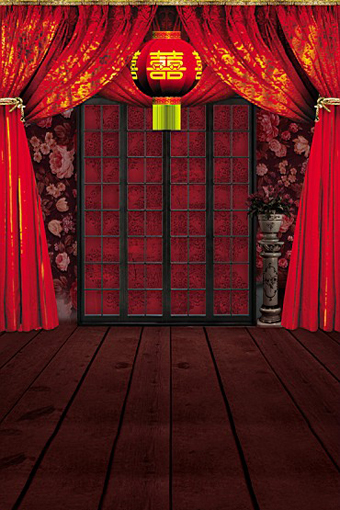 15x22m Photography Backdrop Photo Chinese Traditional Wedding Home