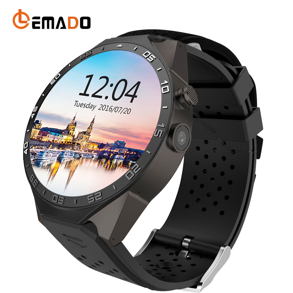 Lemado KW88 Sport Smart Watch MTK6580 CPU 2.0 MP Camera Message And Call Reminder Wristwatch Android 5.1 OS Relogi Smartwatch wireless service call bell system popular in restaurant ce passed 433 92mhz full equipment watch pager 1 watch 7 call button