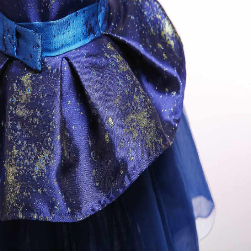קיץ ללא שרוולים סגנון חדש רשת ילדה חתונה מסיבת גרבים שמלת ילדה נייל פרל פרח משתה כדור שמלת Vestidos 100- 140