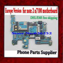 DHL/EMS Free Shipping Unlocked Europe Version For Samsung Galaxy Note 2 N7100 Motherboard & 100% Original with Chips