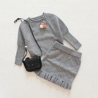 Girl S Clothing Sets Autumn Spring Fashion Baby Set Cotton Kids Sport Suits Sweater Kintted Skirt