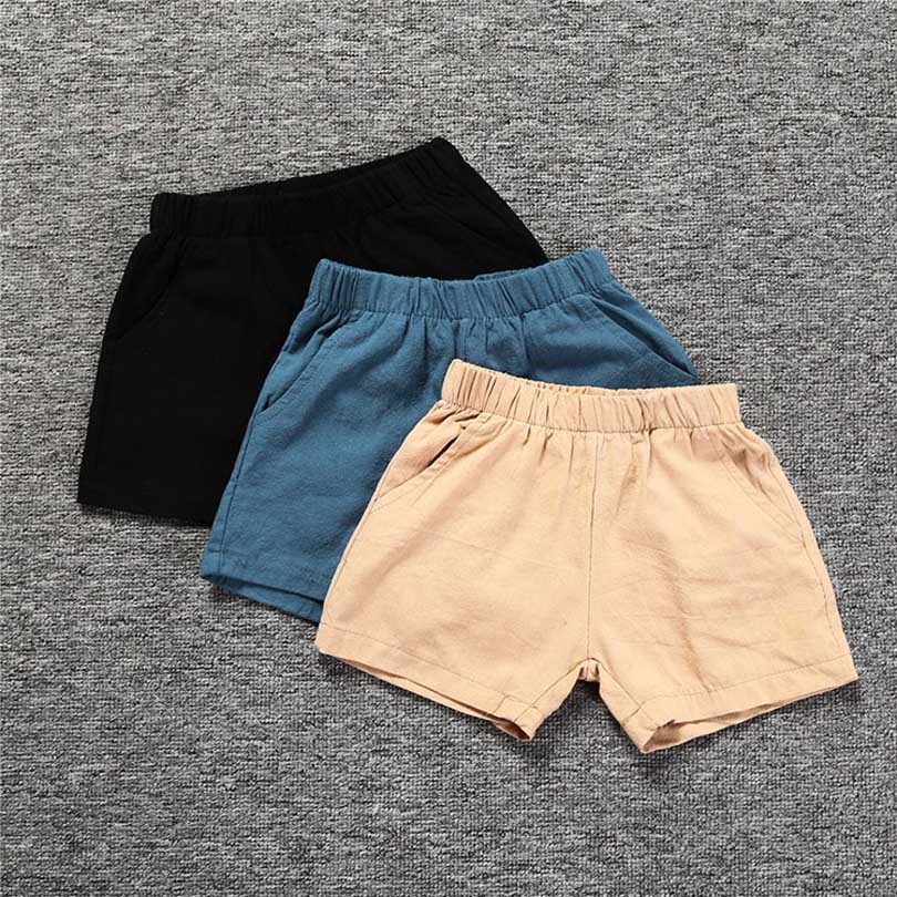 Solid Colors Kids Trousers Children Pants for Boys Summer Beach Loose   Shorts   Size 80~130 Toddler Baby Comfortable