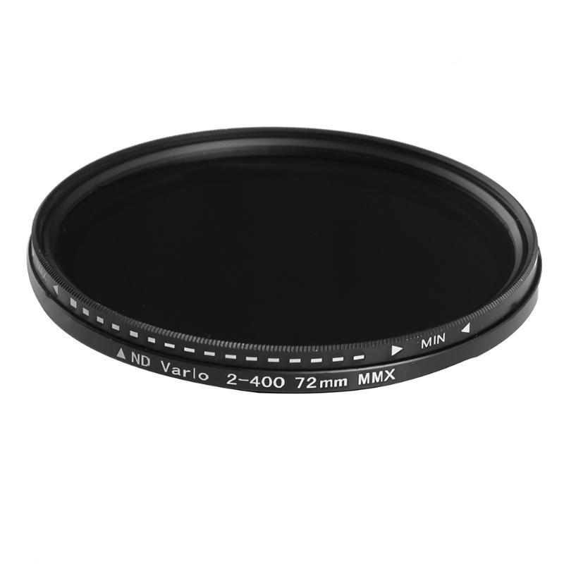 Alloyseed Mince 72mm/82mm Camera Lens ND Filtre Variable Réglable Densité Neutre ND2 à ND400 ND Lentille filtre avec Boîte De Rangement