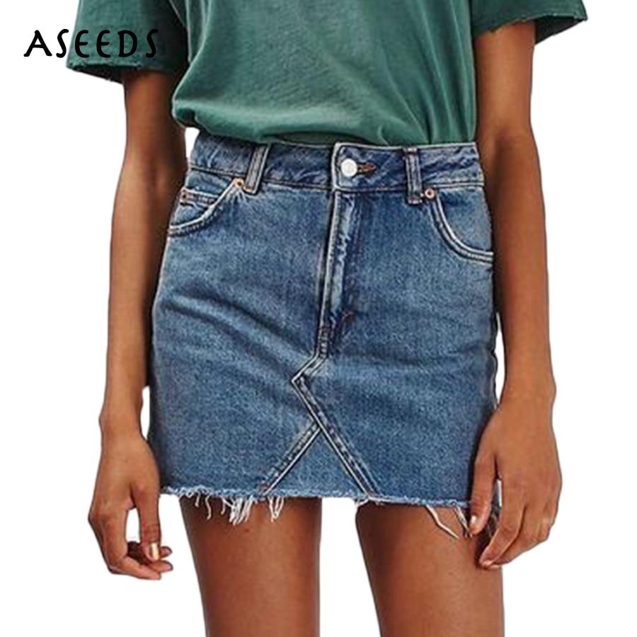 New Skirt 2017 Women Clothes Autumn Tassel Vintage Ripped