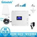 Lintratek GSM 4G repetidor 2G 3G 4G amplificador de señal de teléfono móvil DCS 900 LTE 1800 WCDMA repetidor de móvil de banda tridimensional 2100