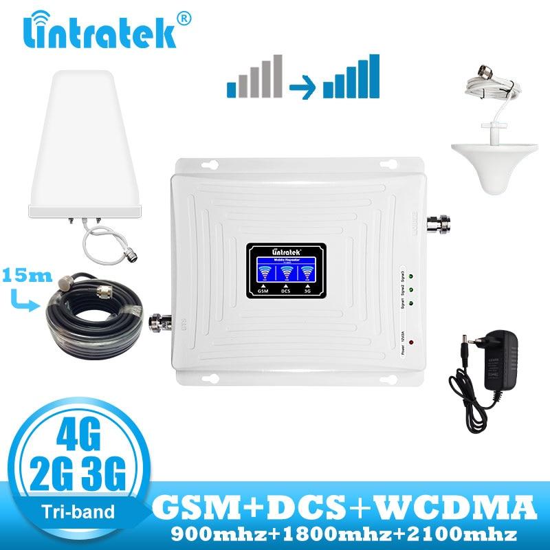 Lintratek repeater 2g 3g 4g wzmacniacz sygnału GSM Tri zespół 900 dcs lte 1800 wcdma 2100 telefon komórkowy komórkowych wzmacniacz kabel antenowy w Wzmacniacze sygnału od Telefony komórkowe i telekomunikacja na AliExpress - 11.11_Double 11Singles' Day 1