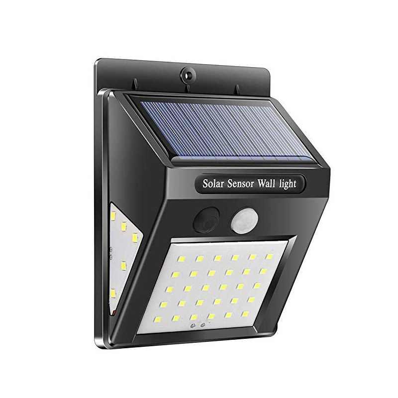 Светодиодный солнечный Мощность движения PIR Сенсор настенный светильник 30/40/60 светодиодный открытый Водонепроницаемый энергосберегающие уличные дворе дома сад Безопасность лампы
