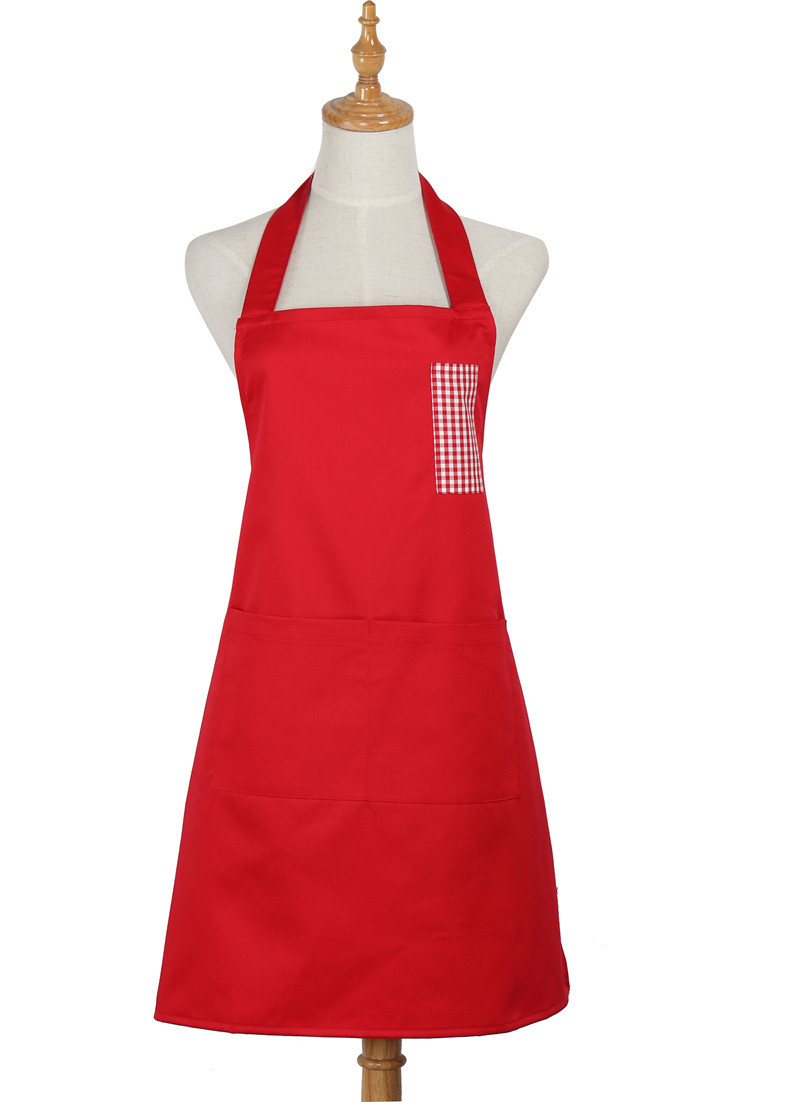 White grilling apron
