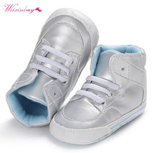 WEIXINBUY Winter Baby Infant Boots Baby Boys PU Lace-up Waterproof Booties Casual Non-slip Toddler Baby Shoes