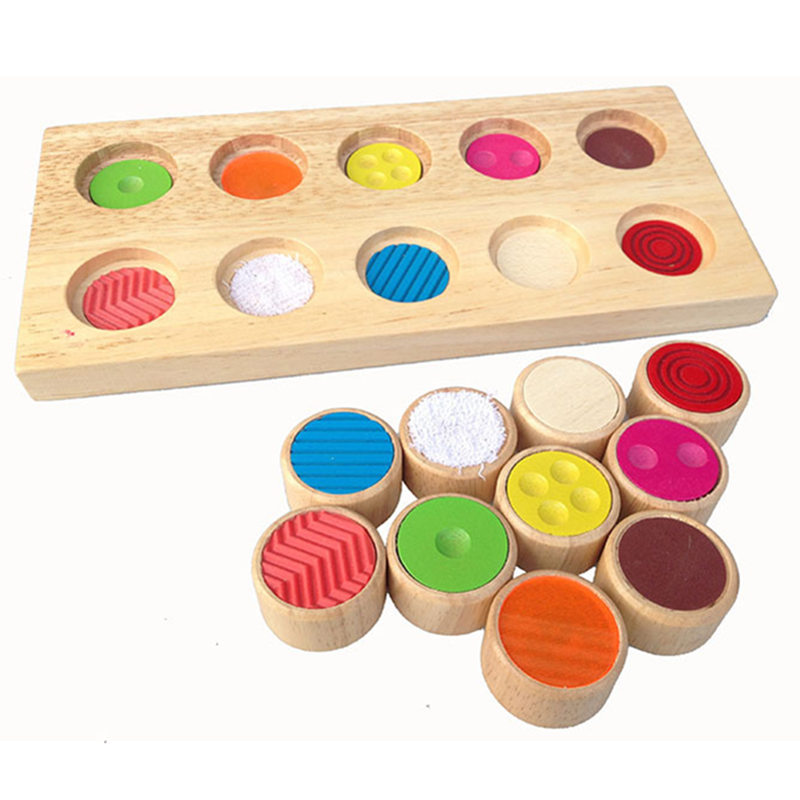 Baby Toys Montessori Memory Sense Touch Plate Educational Wooden Toys Early Learning Teaching Toys Blocks Kids Birthday Gift