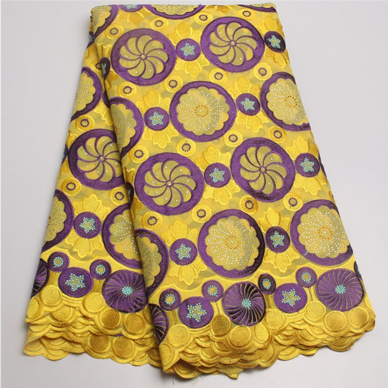 Terbaru voile renda Dengan Batu Afrika swiss renda katun Kualitas - Seni, kerajinan dan menjahit