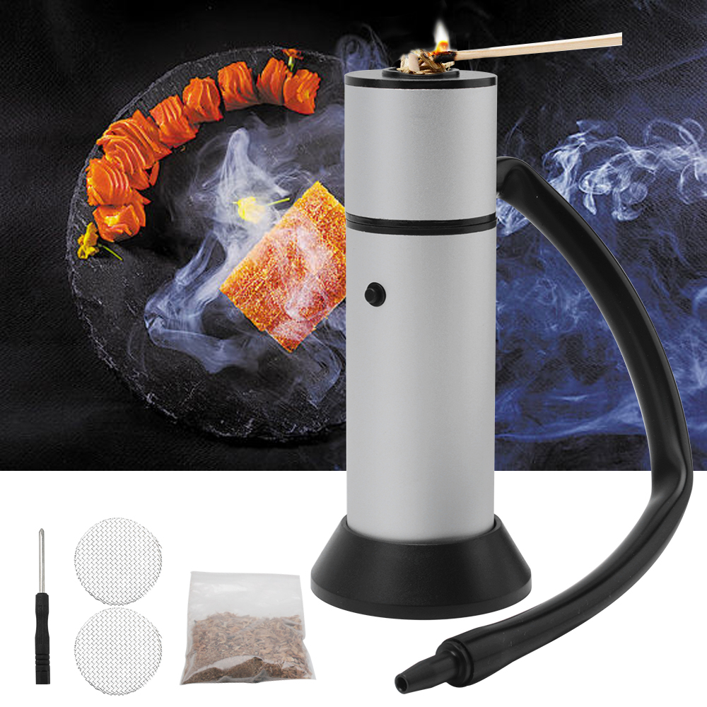 Meat Smoker BBQ Grill Smoker Cold Smoke Generator for Salmon Fish Bacon Meat Smokehouse Food Smoking Gun Kitchen Cooking Tools-in Cooking Tool Sets from Home & Garden