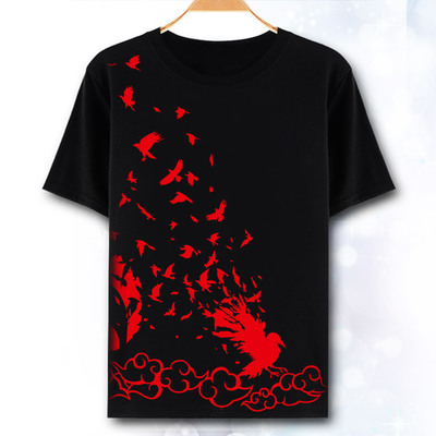 Naruto T-Shirt Fashion Clothes Anime Short Sleeve T Shirt Itachi Uchiha Sasuke Cosplay Tshirt Top