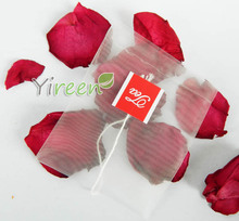 100pcs/lot 65 X 80mm Nylon filter bag, Single string with label, Transparent packing bags, empty tea herbals/ plants bag