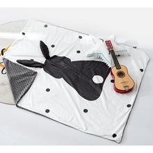 80*110 см детское одеяло и пеленание новорожденных Минки коралловый флис мягкое термальное одеяло покрывало мультфильм 3D комплект постельного белья с принтом кроликов Хлопковое одеяло