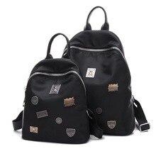 Kvky женщины новая мода досуга рюкзак ткань оксфорд все матча заклепки простой водонепроницаемый рюкзак