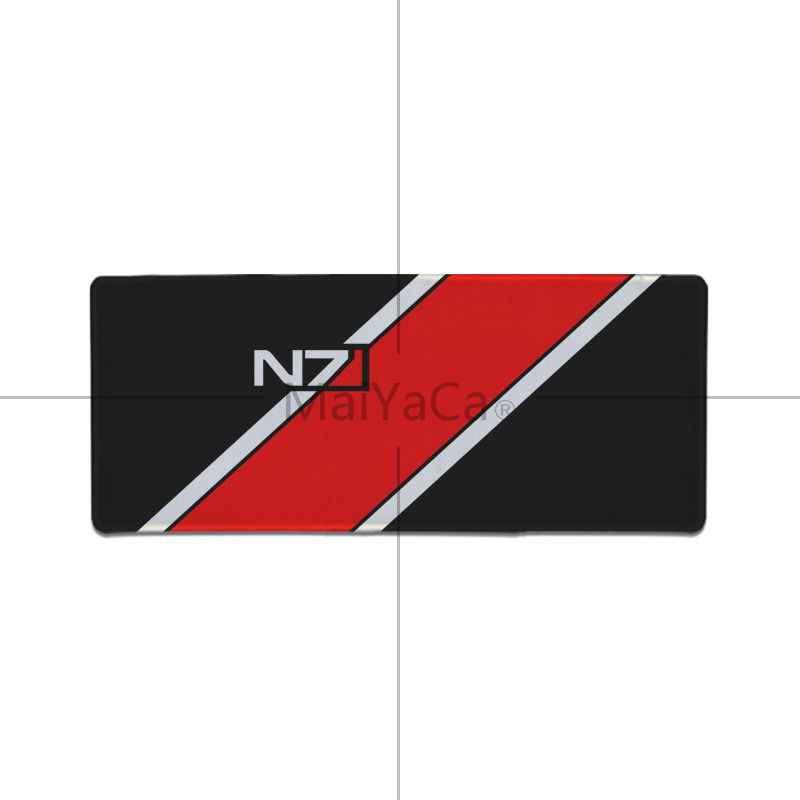 Maiyaca Mass Effect N7 игры логотип резиновая прокладка для Мышь игры аниме мультфильм печати большой Размеры игры Мышь Pad Коврик для клавиатуры стол коврик