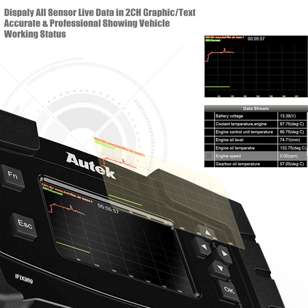 Image 5 - Autek IFIX969 OBDII Automotive scanner Airbag ABS SRS SAS EPB Oil Reset TPMS Professional Full System ODB OBD2 Diagnostic Tool on