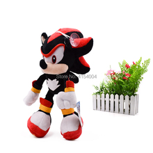 20 pcs/lot Sonic Soft Doll Black Cartoon Animal Stuffed Plush Toys Figure Dolls Halloween Christmas Gift For Children