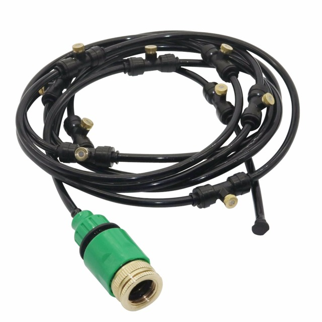 Diy Garden Drip Irrigation System Sprinkler Hose Kits Mist 10m 4 7mm