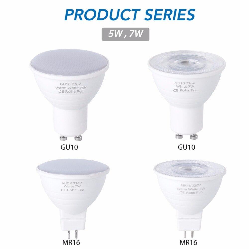 GU10 LED Bulb 220V Lamp MR16 Spotlight 7W GU5.3 Spot Light Bulb E27 Corn Bulb LED Lampada 5W Bombilla gu 10 led Ampul E14 2835 2