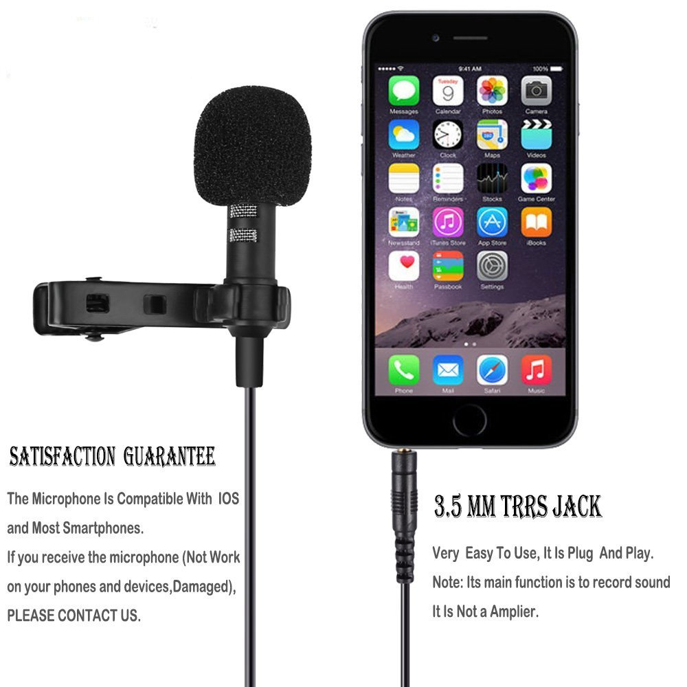 Mini Microphone Omnidirectional Condenser Mic for Apple
